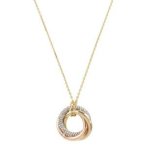 Kenneth Cole tritone trinity ring pendant necklace